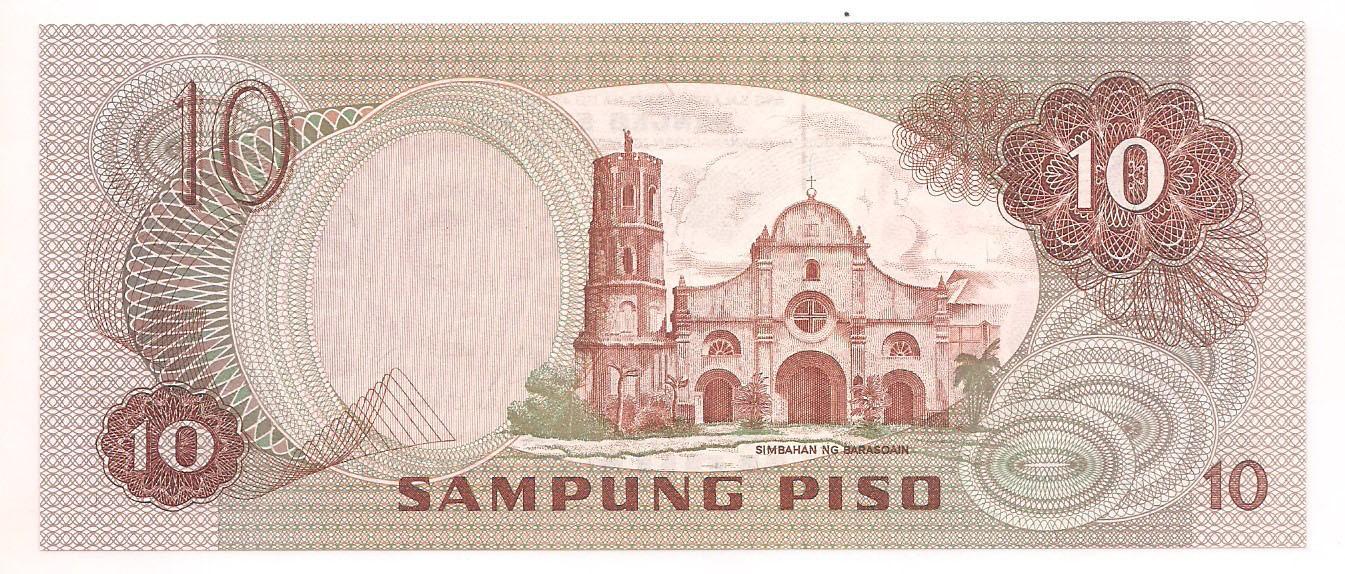 FILIPINAS 10 piso FE 1981