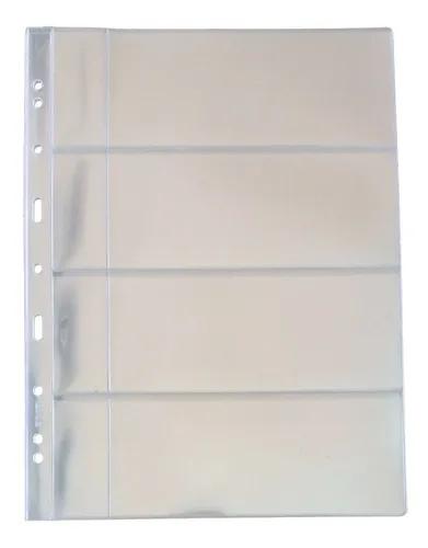 Folha para Cédulas  Acetato - 4 espaços.