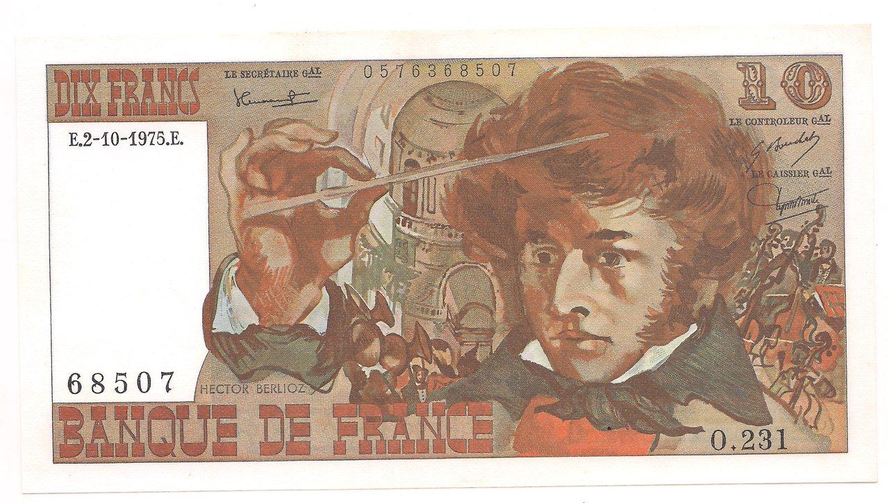 França - 10 Francos 1975 - FE