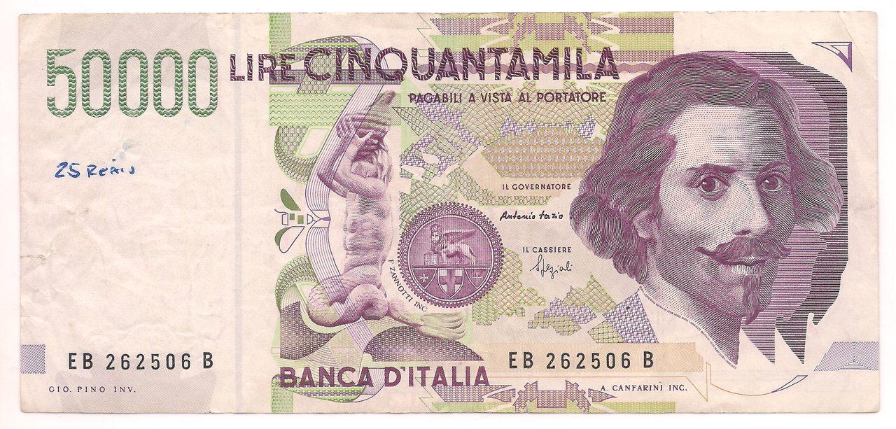 Itália - 50.000 Lire 1992