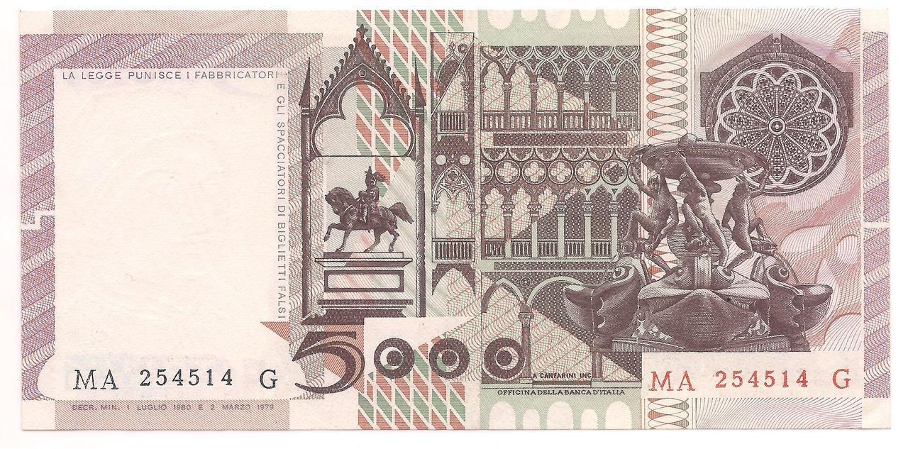 Itália - 5.000 Lire 1980 - SOB/FE