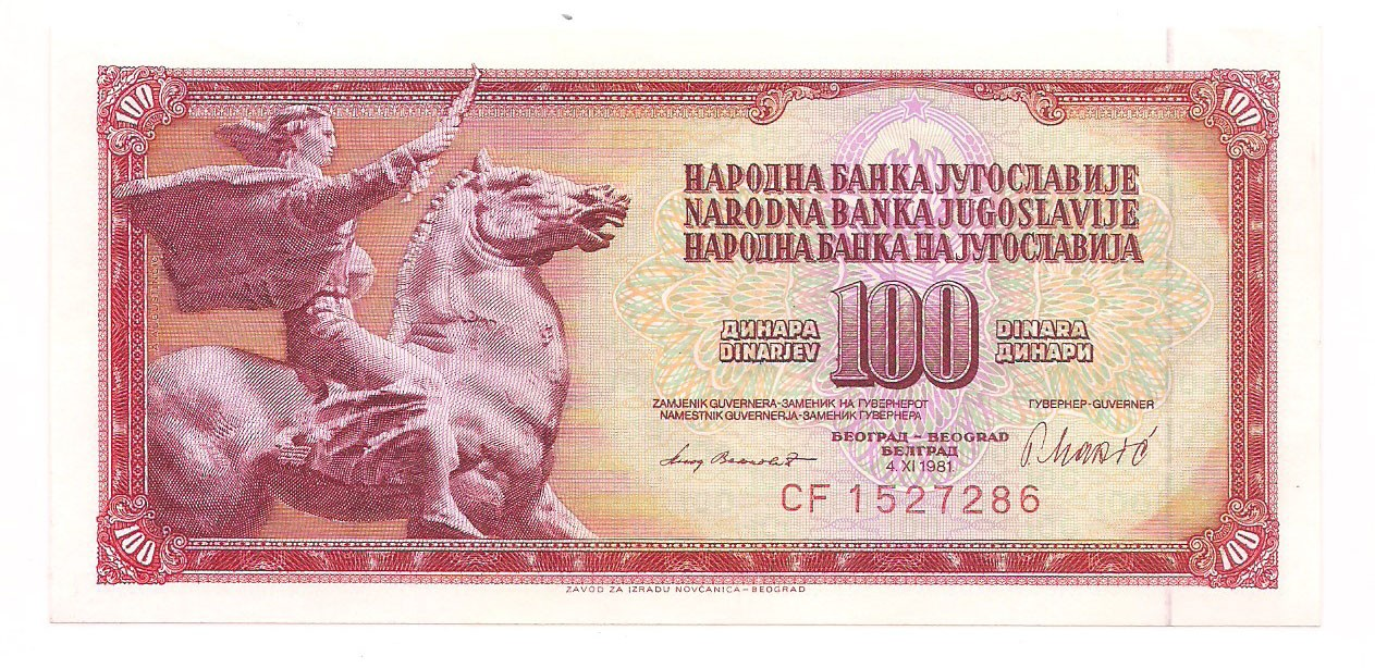 Iugoslávia - 100 Dinara 1981