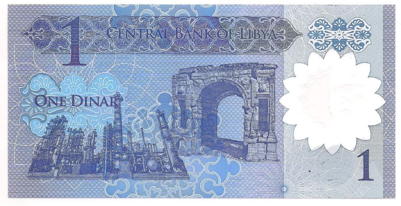 Líbia 1 Dinar Polímero - FE