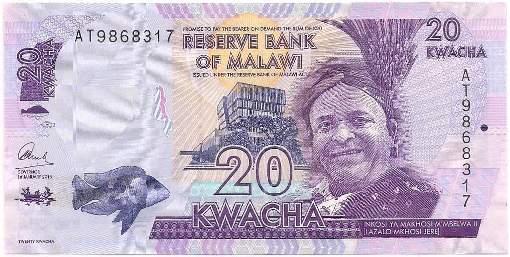 Malawi - 20 Kwacha FE 2015