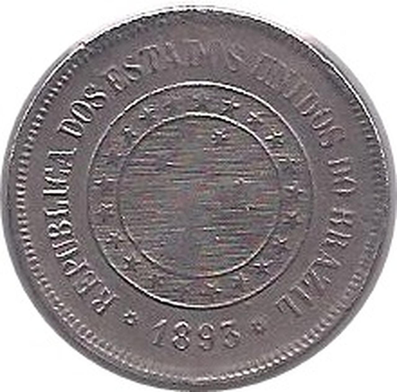 Moeda 100 Réis v.037 ano de 1893.