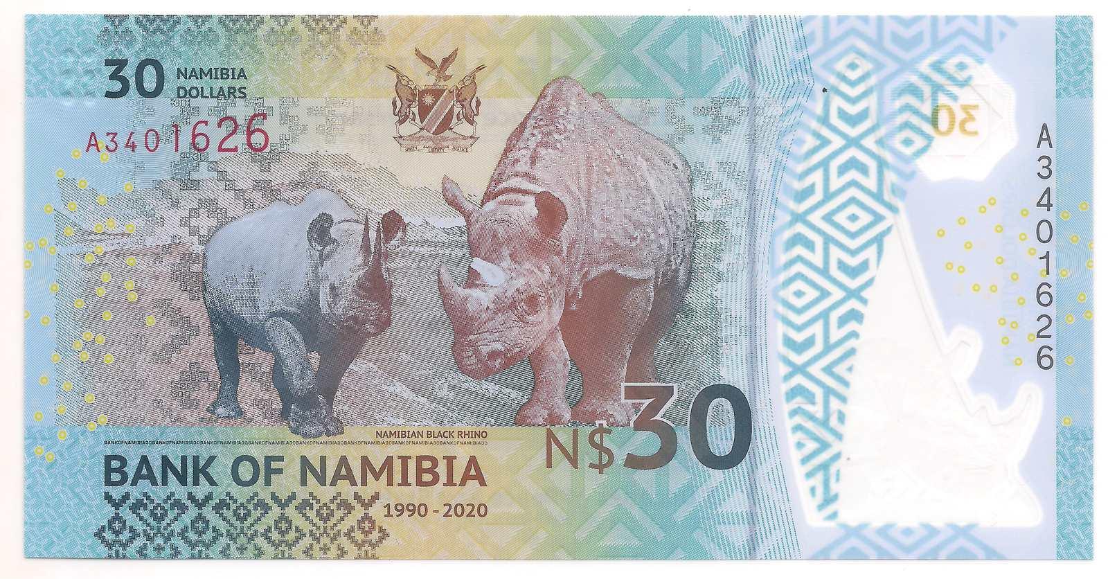 Namíbia -  30 dólares namibianos 2020 Comemorativa - Polímero