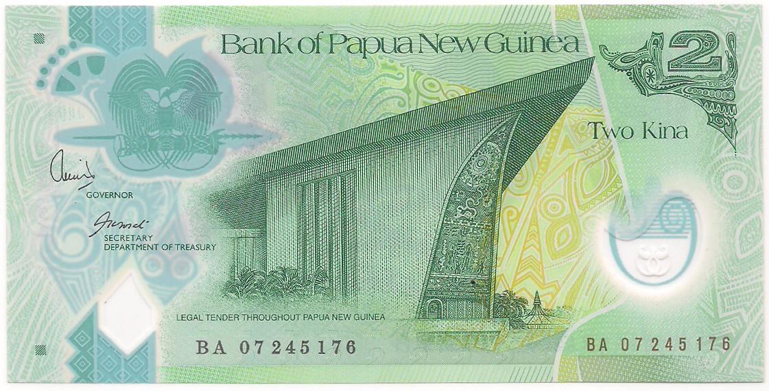 Papua-Nova Guiné 2 Kina - FE Polímero