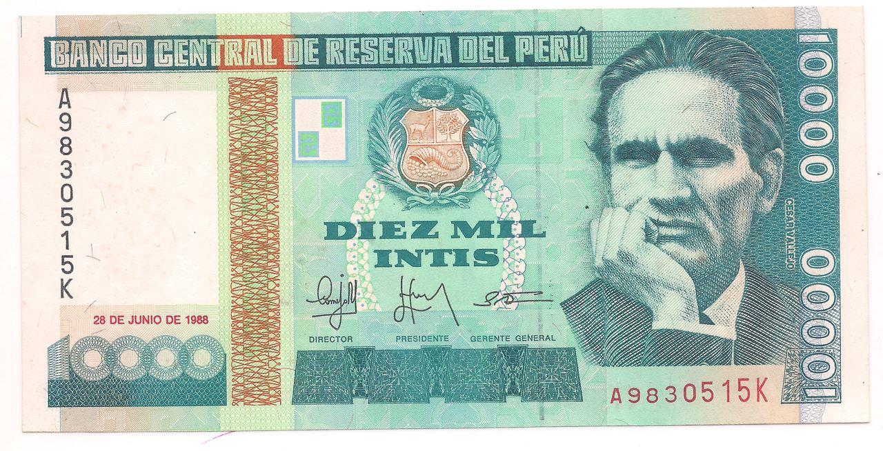 Peru 10.000 Intis 1988 - FE