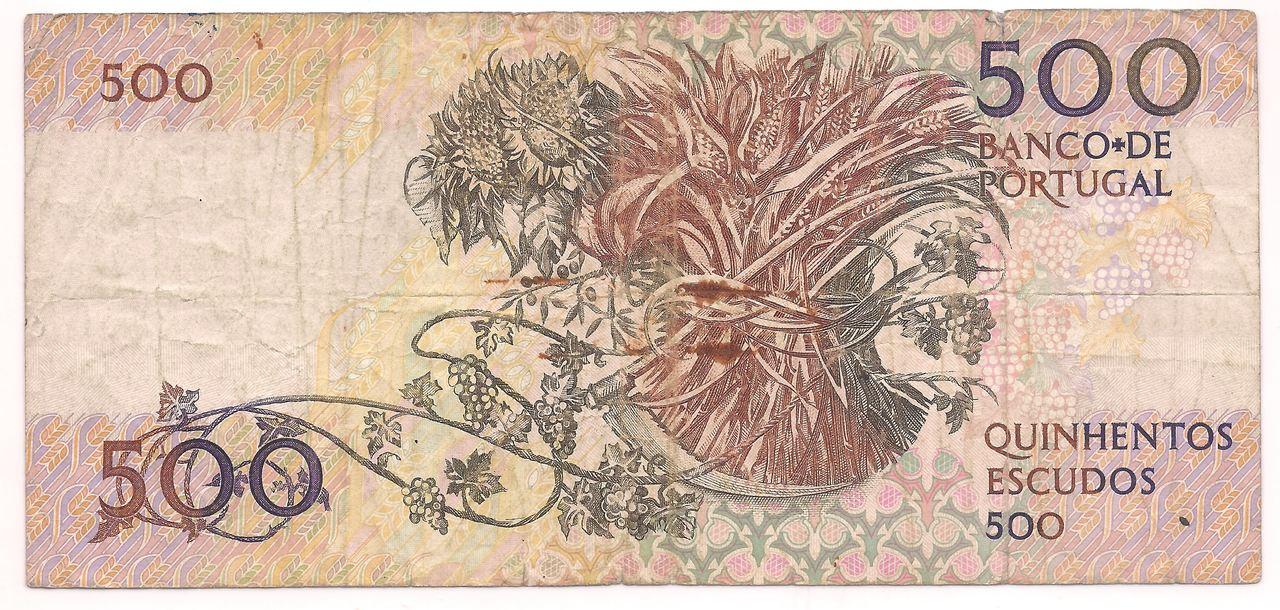 Portugal - 500 Escudos (Mouzinho da Silveira 1780-1849)