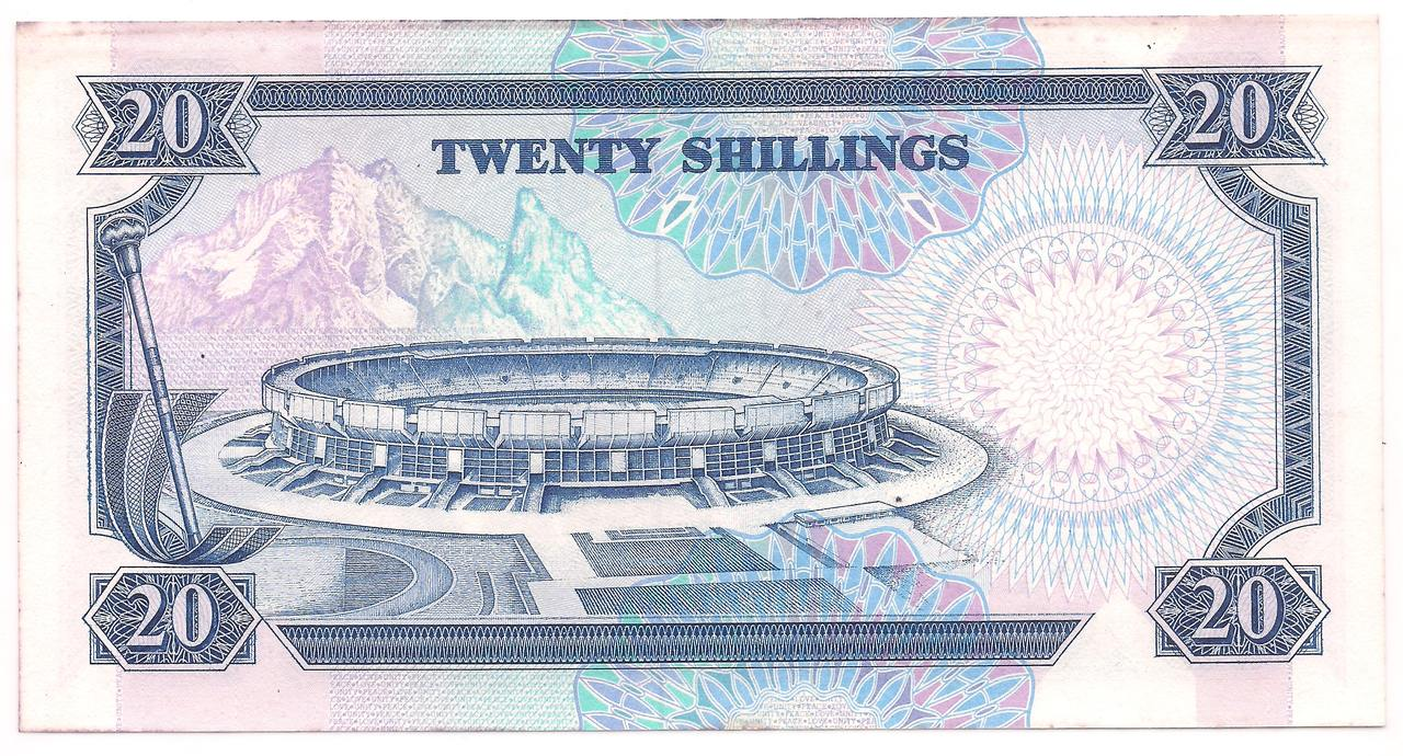 Quênia - 20 Shillings 1988