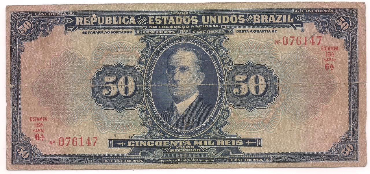 R-129 - 50 Mil (50.000) Réis - 1924