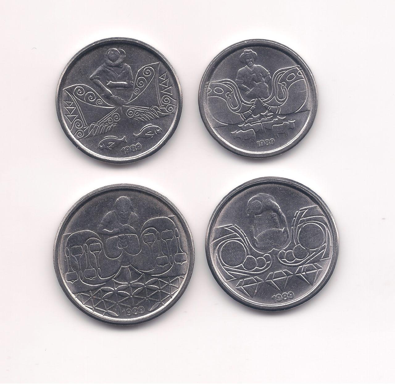Série 1, 5, 10, e 50 centavos 1989 (SOB/FE)
