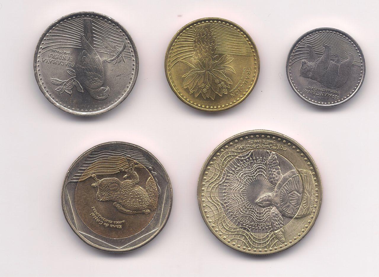 Série colômbia - 5 moedas FC