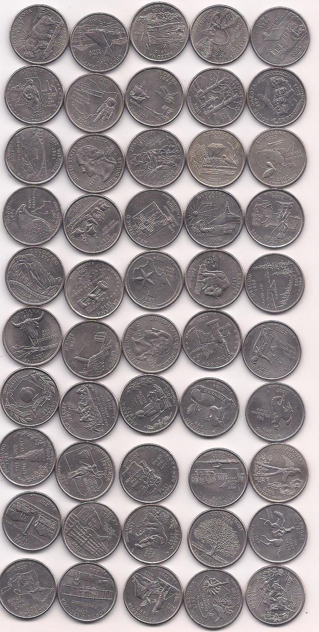 Série Completa Estados - quarter dollar - 50 moedas.