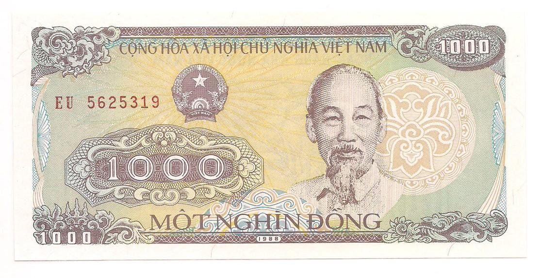 Vietnã 1.000 dong FE 1988