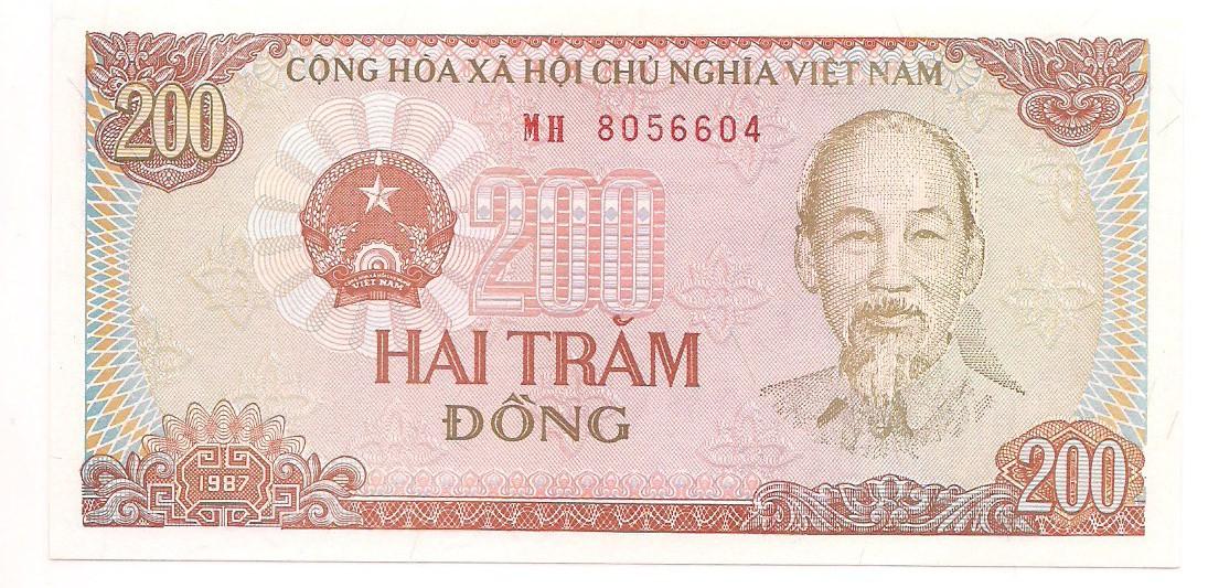 Vietnã 200 dong 1987