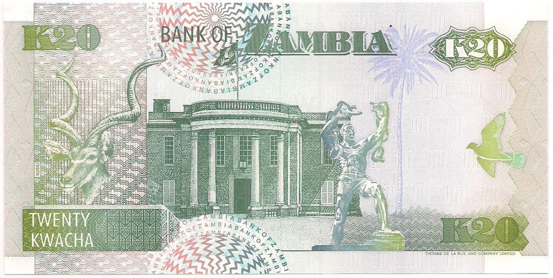 Zâmbia - 20 Kwacha FE 1992