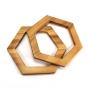 Alças de madeira Hexagonal  COR 1- PAR