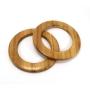 Alças de madeira Redonda COR 1 - PAR