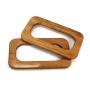 Alças de madeira Retangular M COR 1 - PAR