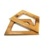 Alças de madeira Trapézio G COR 2 - PAR