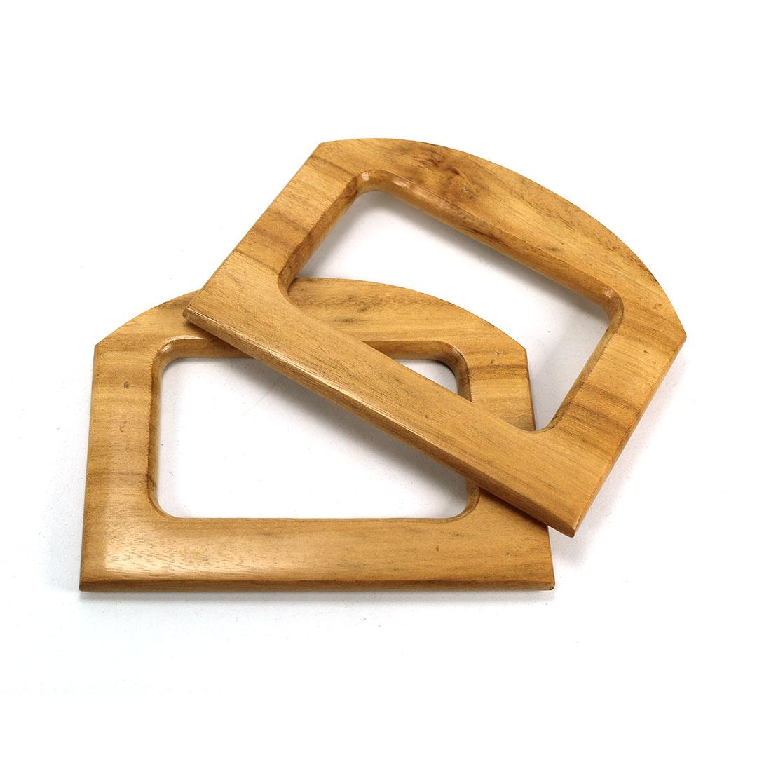 Alças de madeira Quadrada 2 -PAR