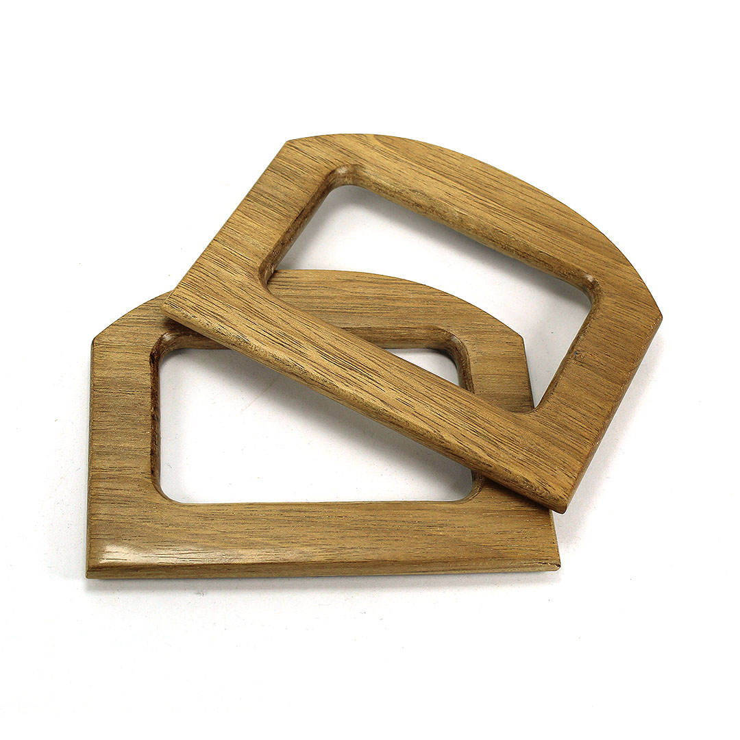 Alças de madeira Quadrada 2 COR 2 - PAR