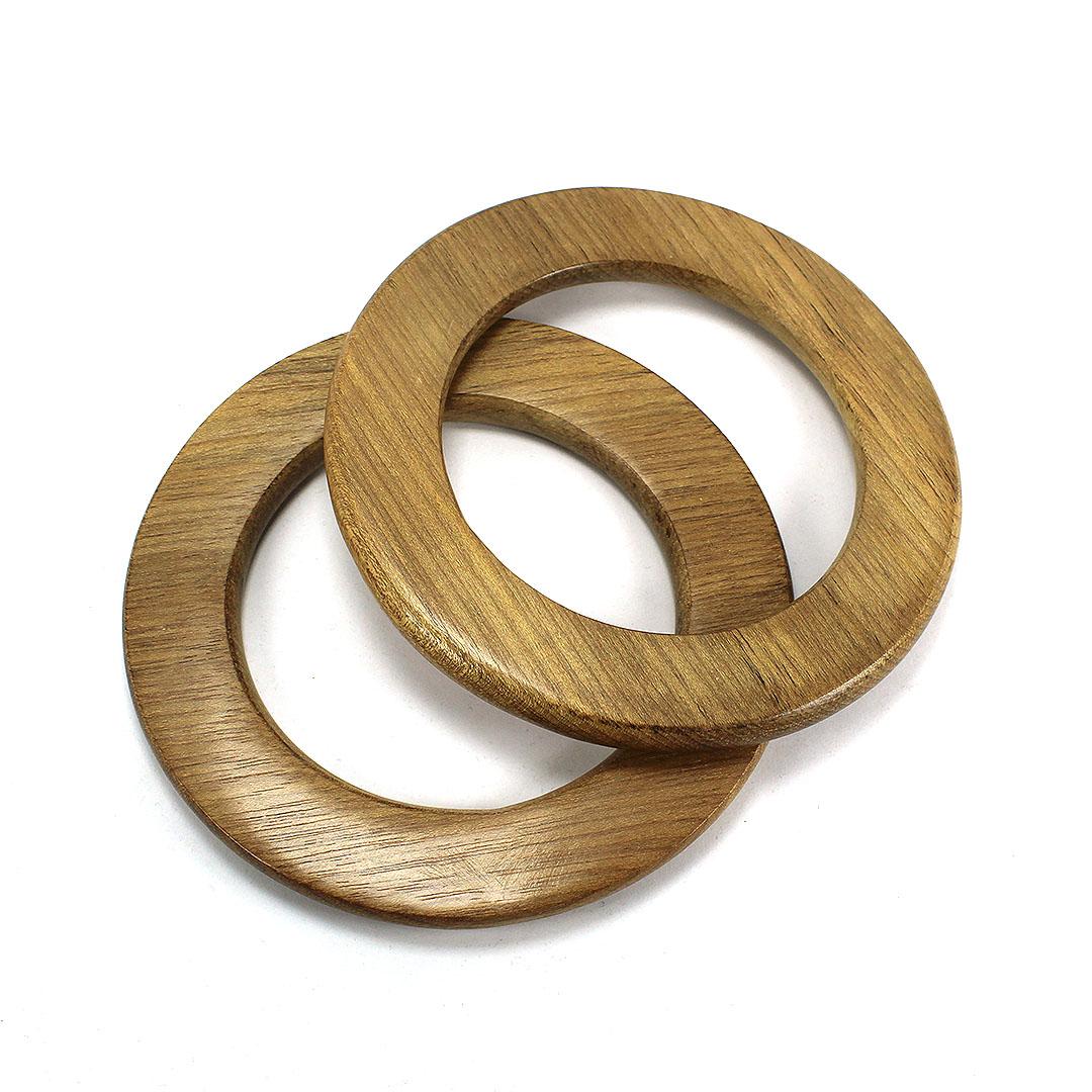 Alças de madeira Redonda COR 2 - PAR