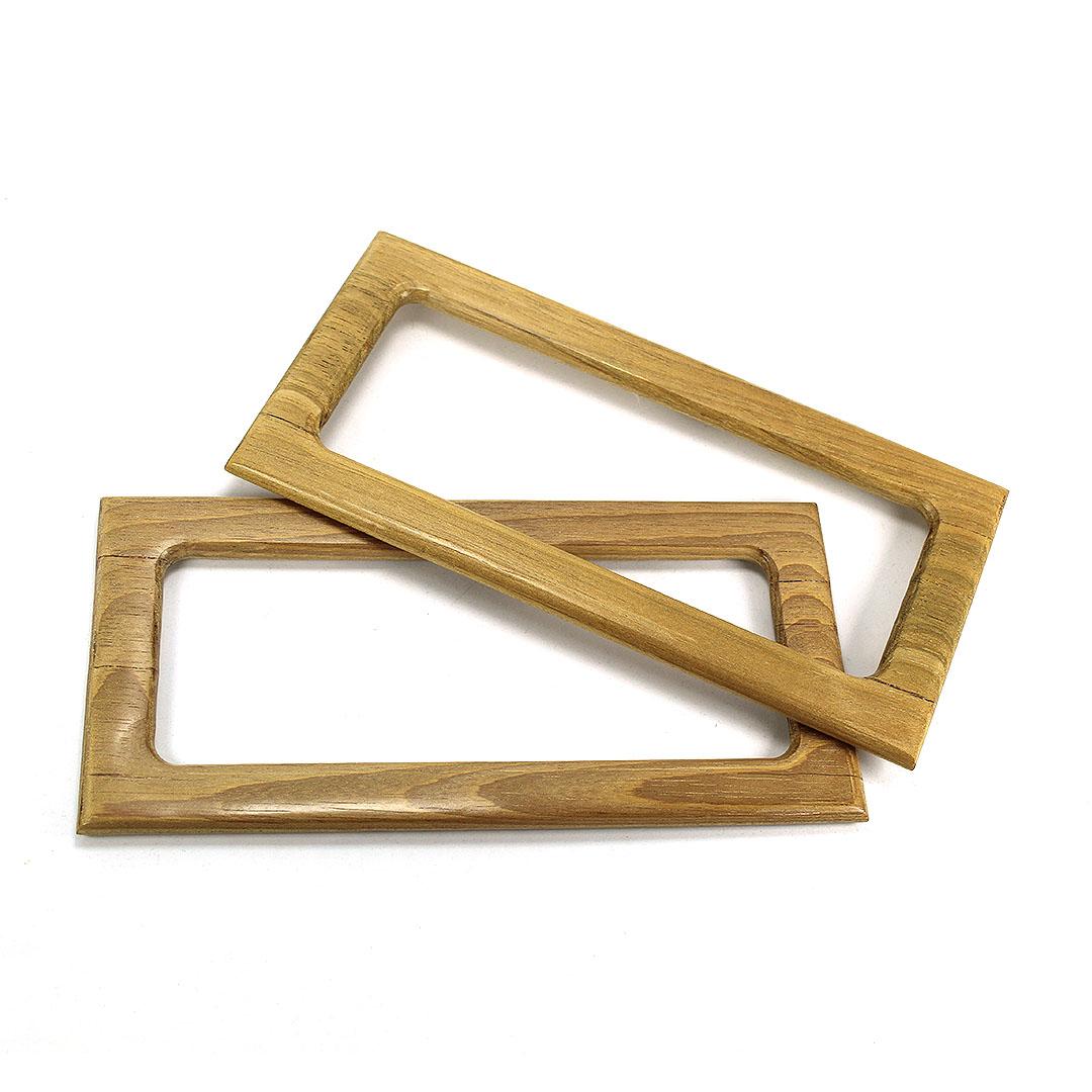 Alças de madeira Retangular G COR 1 - PAR