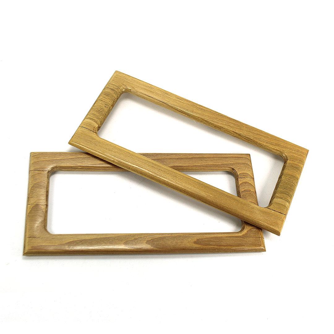 Alças de madeira Retangular G COR 2 - PAR