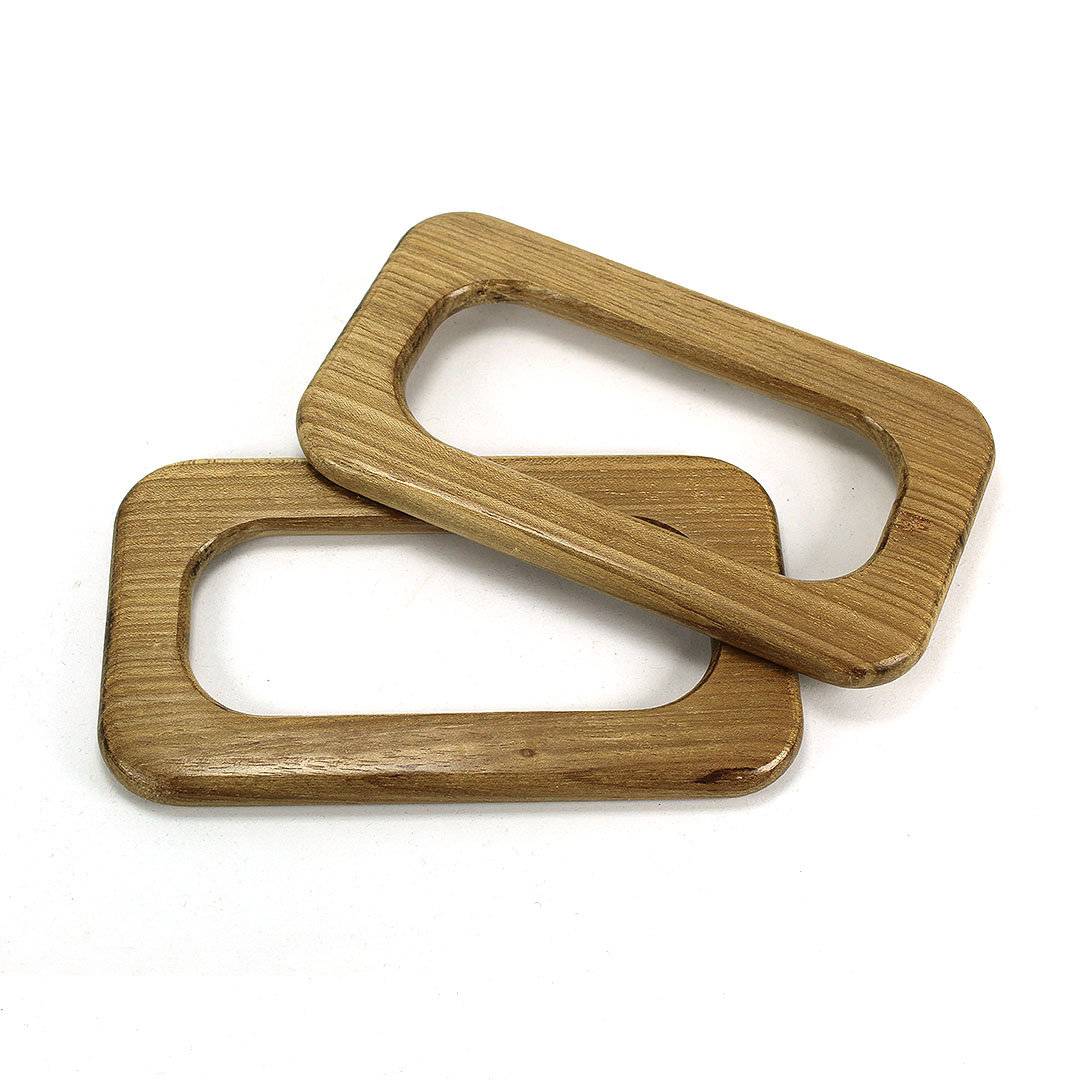 Alças de madeira Retangular M COR 2 - PAR
