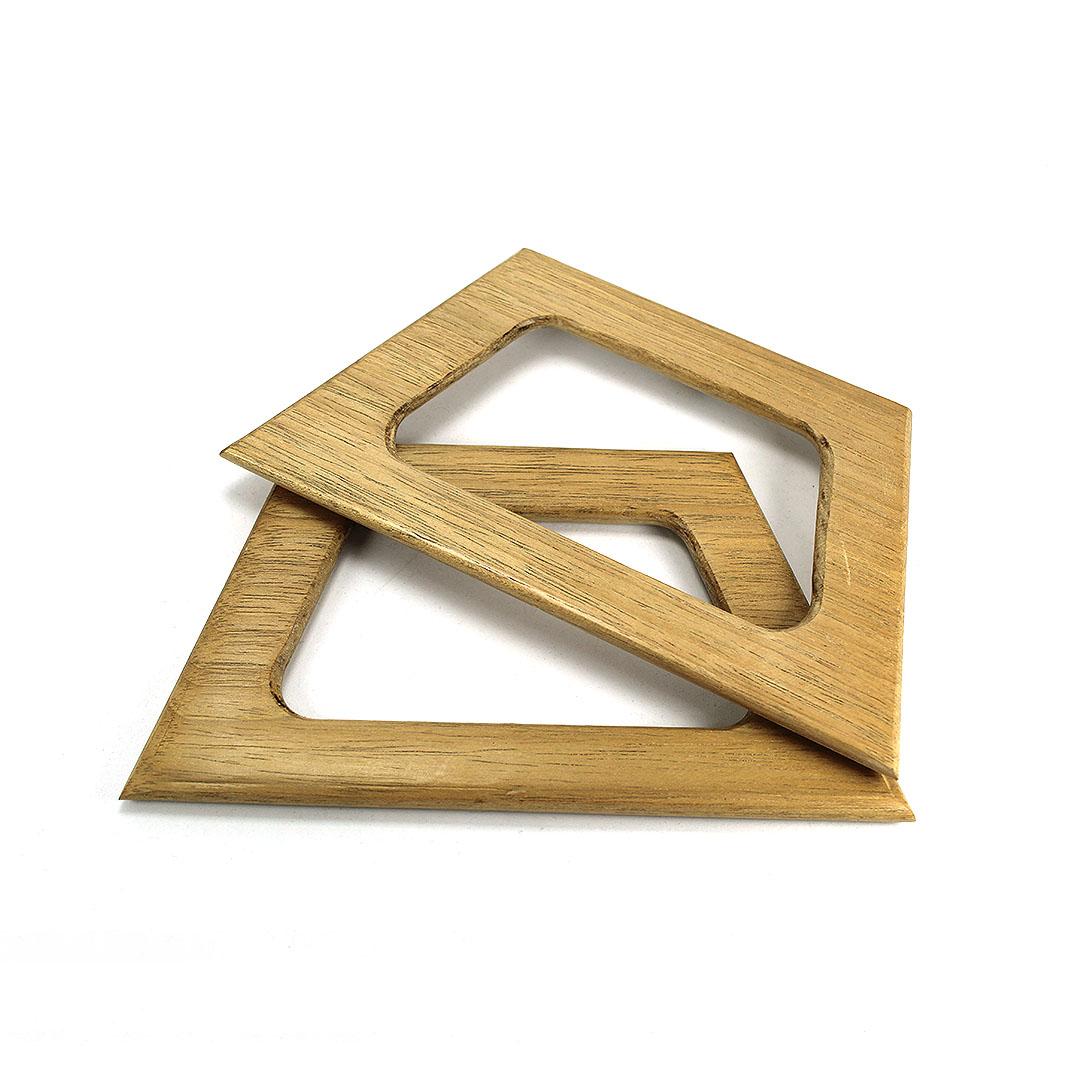 Alças de madeira Trapézio G COR 1 - PAR