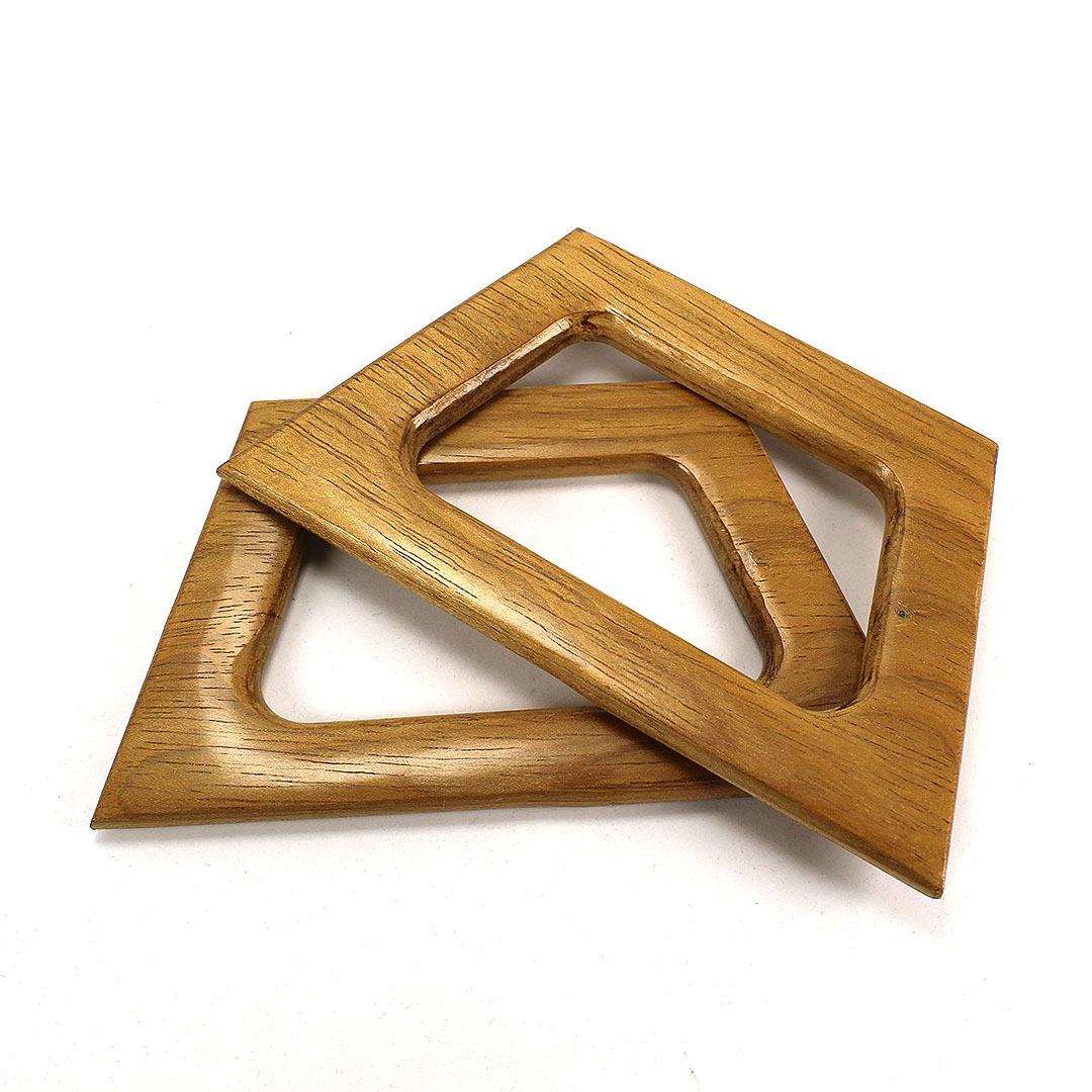 Alças de madeira Trapézio M COR 2 - PAR