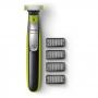 Barbeador Elétrico Philips Oneblade QP2530/10 - À Prova D'água - Uso Seco ou Molhado - com 4 Pentes + 1 Lâmina