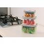 Conjunto de Potes Herméticos Electrolux 10 Peças - em Plástico Polipropileno - com Dupla Vedação na Tampa