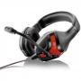 Headset Gamer Multilaser Warrior Harve PH101 - Conector P2 - com Controle de Volume - Vermelho