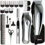Kit Máquina de Cortar Cabelo e Aparador de Pêlos, Barba e Nariz Wahl Deluxe Groom Pro - com 18 Acessórios - Prata