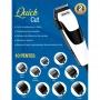 Máquina de Cortar Cabelo e Barba Wahl Clipper Quick Cut com 10 Pentes + 5 Acessórios