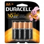 Pilha AA Pequena Alcalina Duracell - Cartela com 4 Unidades - MN1500B4
