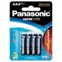 Pilha AAA Palito Comum Panasonic Super Hyper - Cartela com 8 Unidades - R03UAL/L8P6