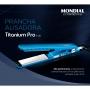 Prancha de Cabelo Profissional Mondial Titanium Pro P-28 - 230°C - com Display Digital - Chapinha em Titânio