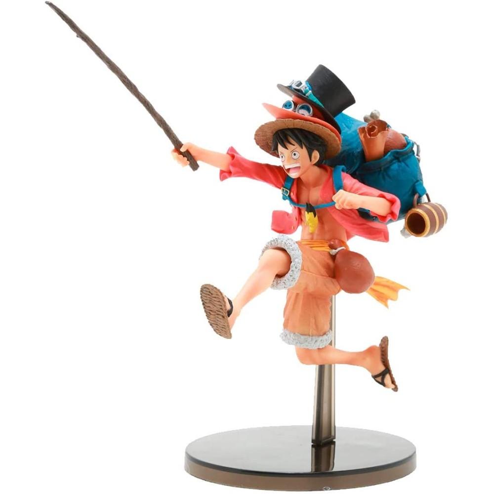 Action Figure One Piece - Three Brothers - Monkey D. Luffy - Bandai Banpresto 20742/20743