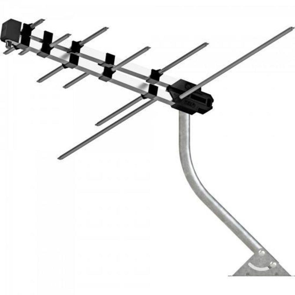 Antena Digital para TV - Externa - HDTV/UHF/VHF/FM - Compacta - com Suporte e Cabo de 8 metros - Proeletronic PROHD-3630
