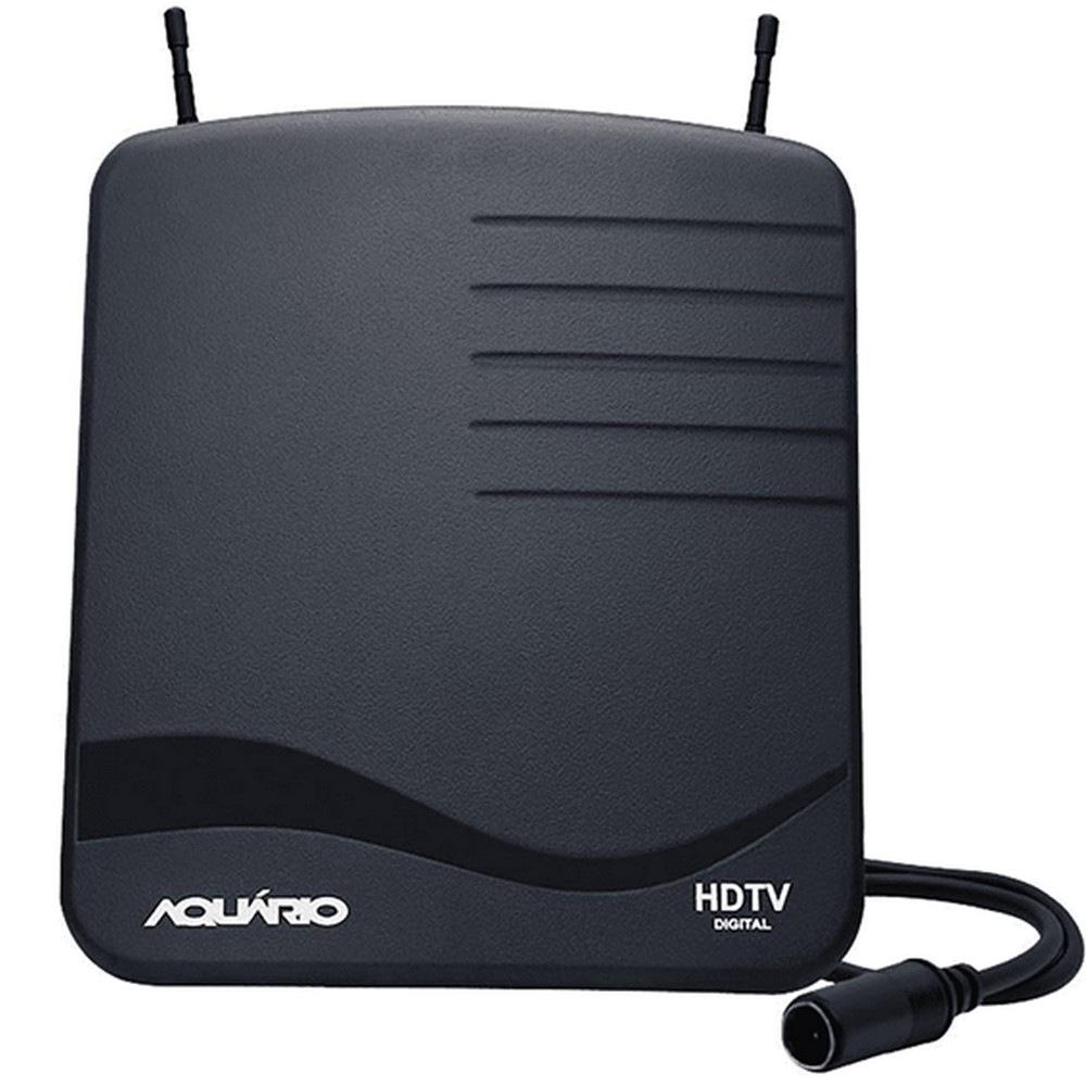 Antena Digital para TV - Interna - 4K/HDTV/UHF/VHF/FM - Hastes Telescópicas - com Cabo de 1,5 metros - Aquário DTV-1100