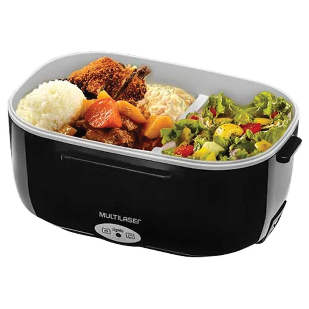 Aquecedor de Alimento Gourmet Multilaser CE071 - 60W - 1 Litro - 2 Compartimentos - Preto