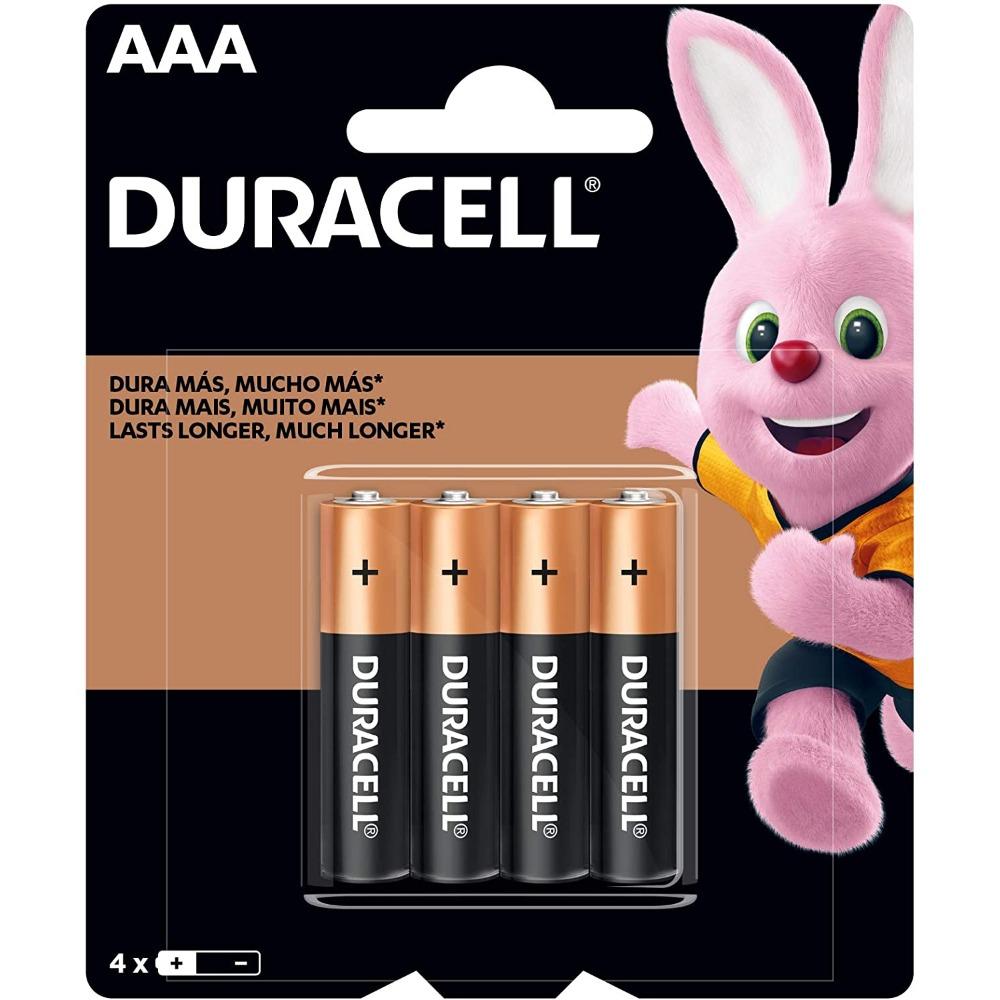 Pilha AAA Palito Alcalina Duracell - Cartela com 4 Unidades - MN2400B4