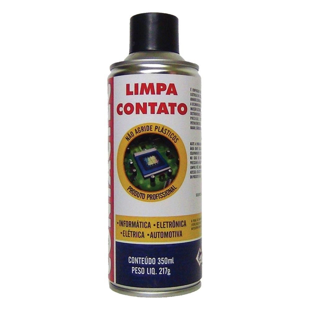 Spray Limpa Contato Contactec 350ml / 217g - Indicado para Limpeza em Componentes de Informática, Eletrônica, Elétrica e