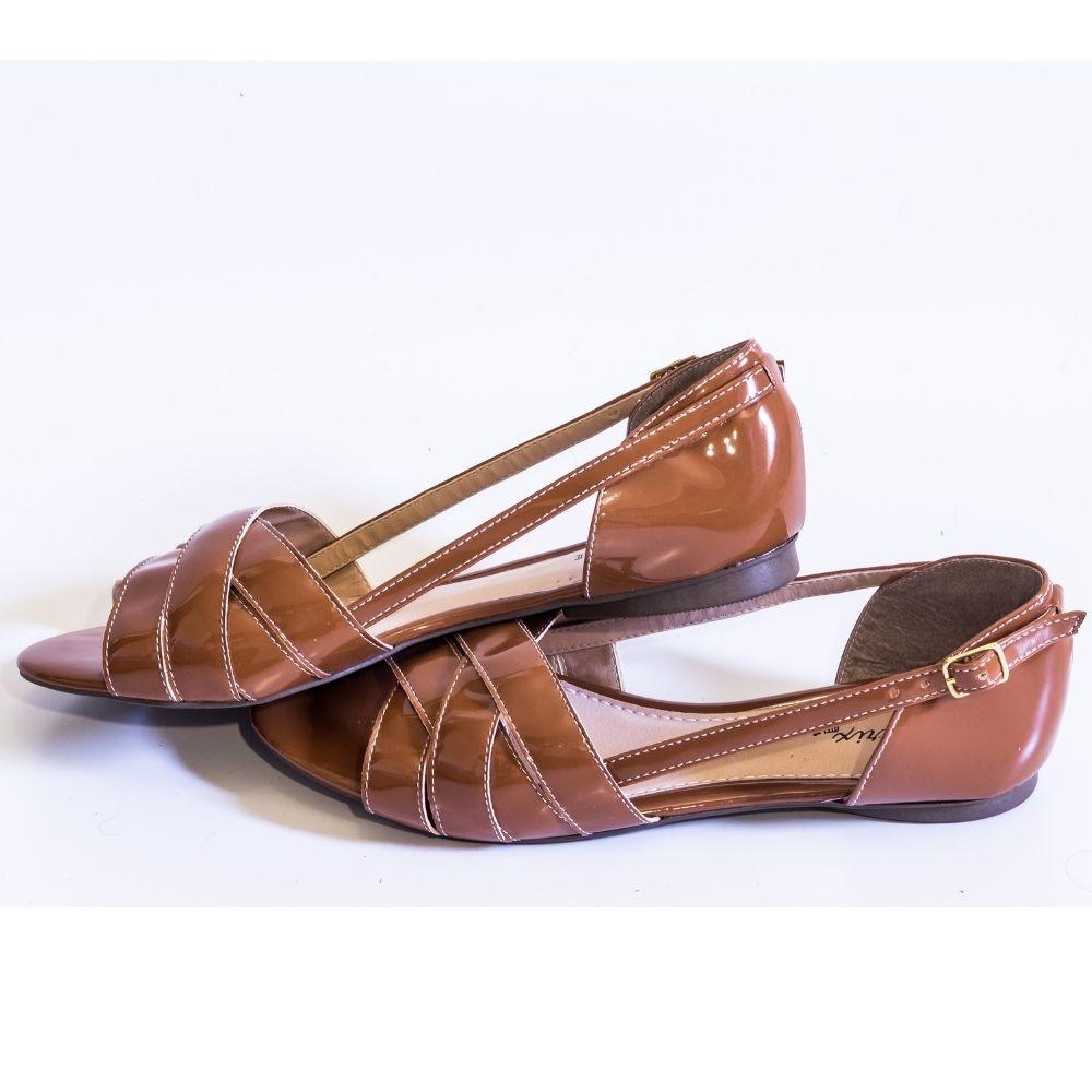 Sandália Flat Caramelo