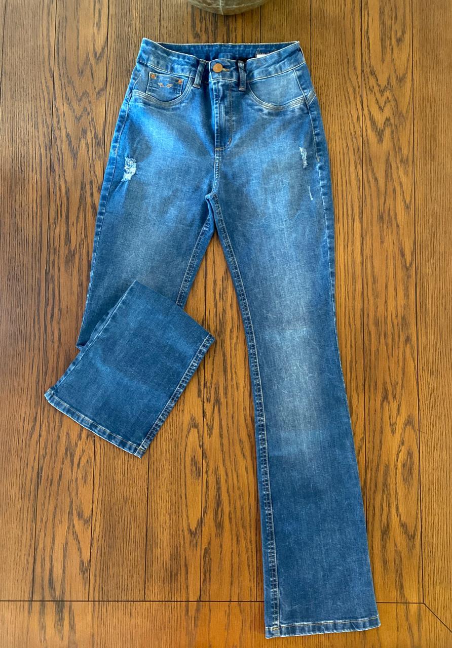 Calça Flare Cropped Trich Jeans