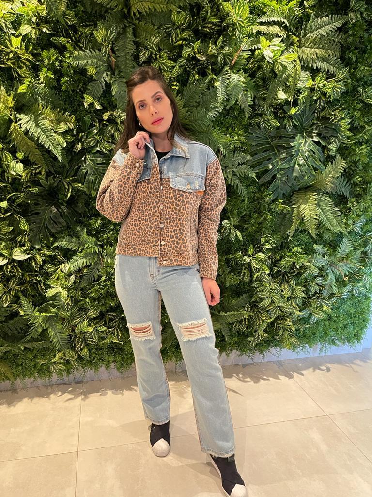 Calça Jeans Animal Print Myft